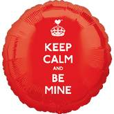 "18"" Keep Calm and Be Mine Balloon"