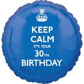18&#39&#39 Keep Calm 30th Birthday