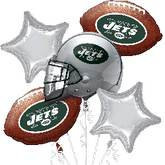 Jets NFL 5 Balloon Bouquet