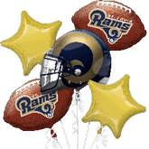 Los Angeles Rams NFL 5 Balloon Bouquet