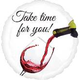 "18"" Take Time for Wine Balloon"