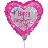 "9"" Airfill Only Happy Mother&#39s Day Balloon"