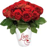 "27"" Rose Vase with Love SuperShape"