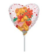 "9"" Airfill I Love You Bear with Flowers"