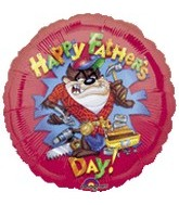 "18"" Happy Father&#39s Day Taz Balloon"