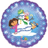 "18"" Dora the Explorer Happy Holidays"