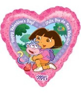 18&#39&#39 Dora the Explorer Valentine Balloon