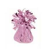 6OZ Pale Pink Foil Wrapped Balloon Weight