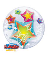 "24"" Double Bubble Multicolored Stars"