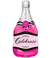 "39"" Bottle Celebrate Pink Bubbly Wine"