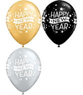 "11"" Assorted Happy New years Confetti balloon (50 Count)"