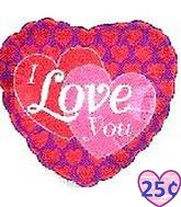 "2"" Airfill I Love You Hearts On Hearts M364"