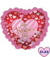 "35"" Happy Valentine&#39s Day Balloon Zebra Hearts"