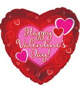 "31"" Happy Valentine's Day Balloon Bold Hearts"