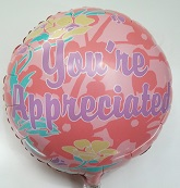 "9"" Airfill Happy Secretary&#39s Day Mylar Balloon"